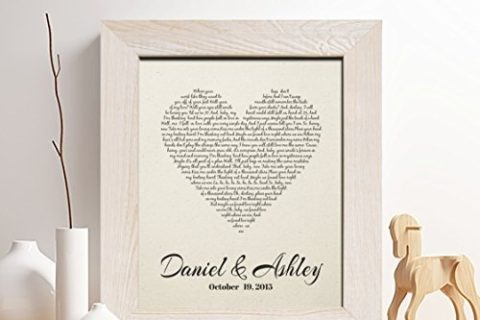 Personalized Heart Print with Customizable Text