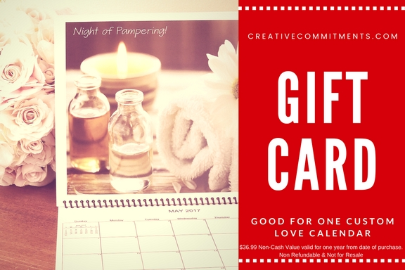 Custom Love Calendar Gift Card