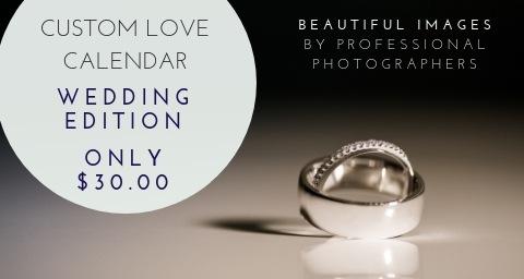 Custom Wedding Love Calendar