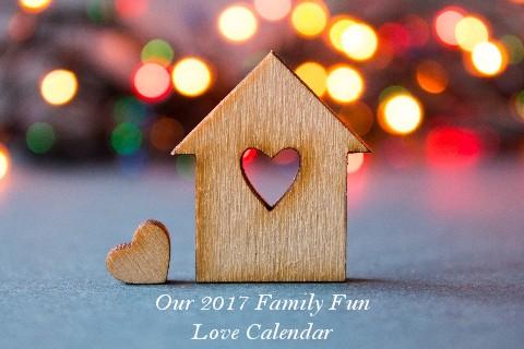 Premade Family Fun Love Calendar - $19.99