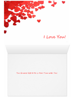 I Love You Heart Confetti Greatest Gift