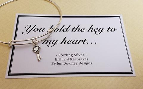 Key to my Heart Sterling Silver Bracelet