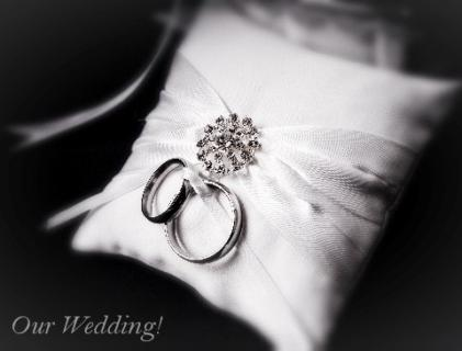 Our Wedding Image - Rings on Pillow