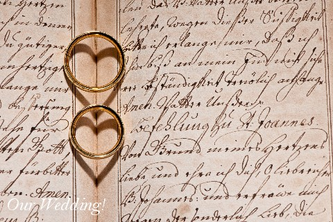 Our Wedding Image - Two Rings Making Two Hearts