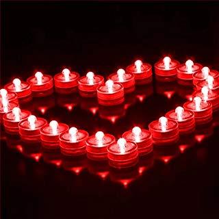 Romantic Waterproof Electronic LED Tea Lights 12 pcs