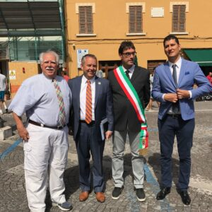 With mayors on piazza