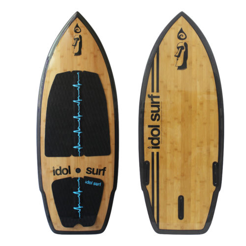 image of carbonfiber bamboo wake surfboard