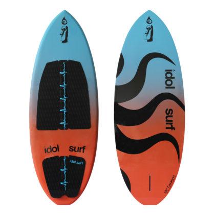 image of big wake surfboard skim