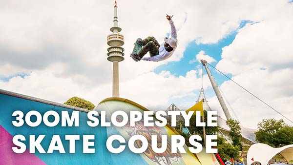 The first ever slopestyle skate course