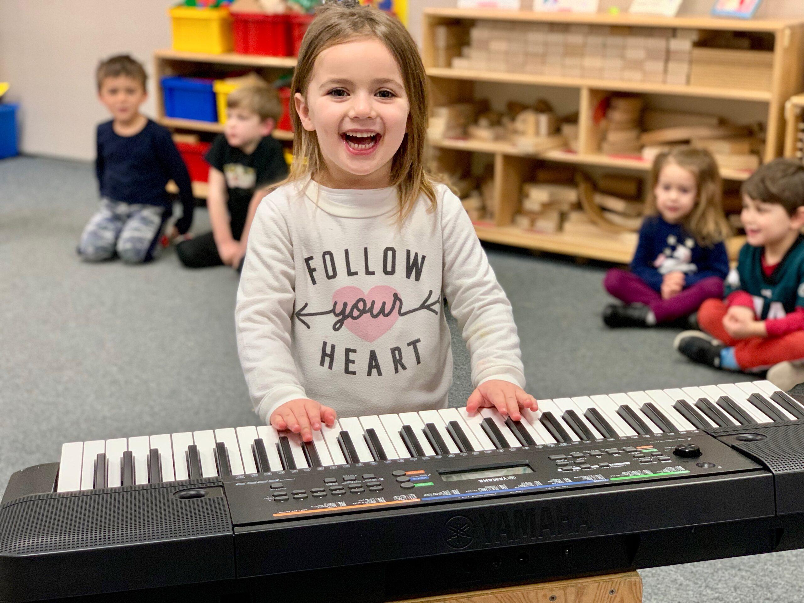 Girl Playing Keyboard