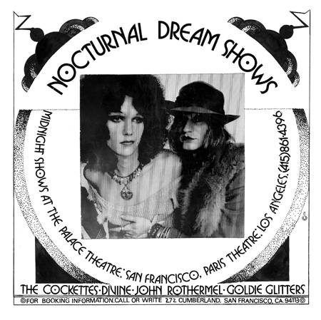 Nocturnal Dream Shows Generac Print Ad - The Cockettes, Divine, John Rothermel, Goldie Glitters 1972
