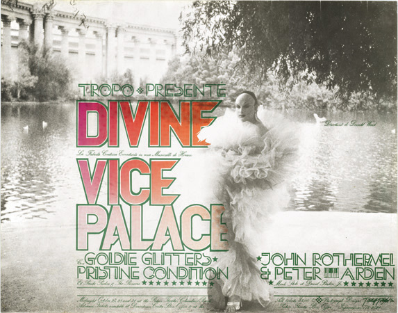 Live Stage Show Divine in Vice Palace – Goldie Glitters & Pristine Condition – John Rothermel & Peter Arden in concert October, 1972