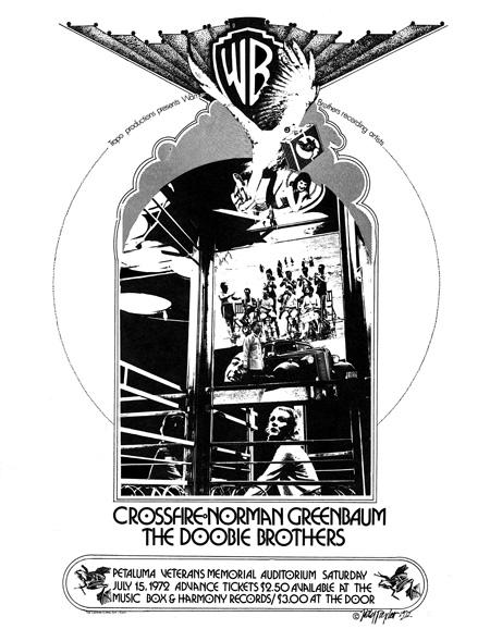 #34 – Tropo Productions Crossfire, Norman Greenbaum, The Doobie Brothers In live concert – Petaluma Veterines Memorial Auditorium July, 1972