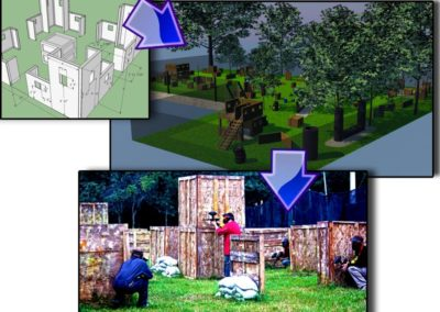 Design to Reality - Paintball fields
