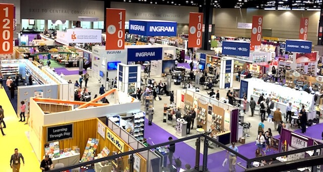 A view of just part of the expansive BEA exhibit floor, filled with thousands of books and hundreds of authors!