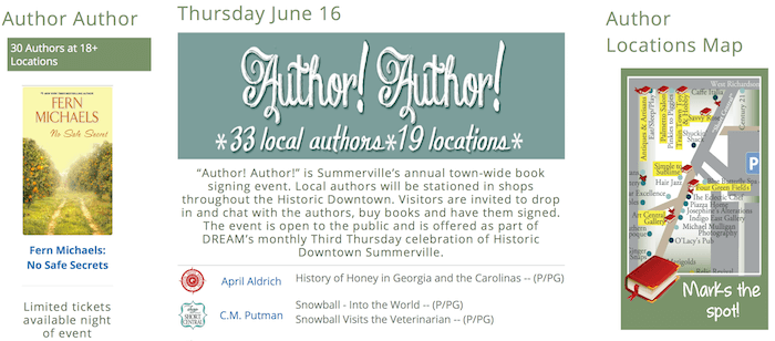 It Takes a Village: Does Your Town Get Behind an Author! Author! Event?