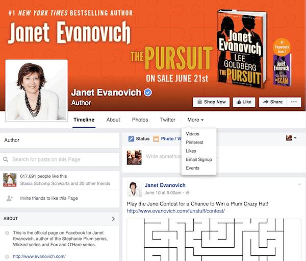 Janet-Evanovich-Facebook-Page