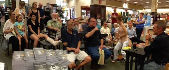 Author Christopher Leibig at a Barnes & Noble reading and book signing. Chris is currently on tour with his new release, Almost Mortal.