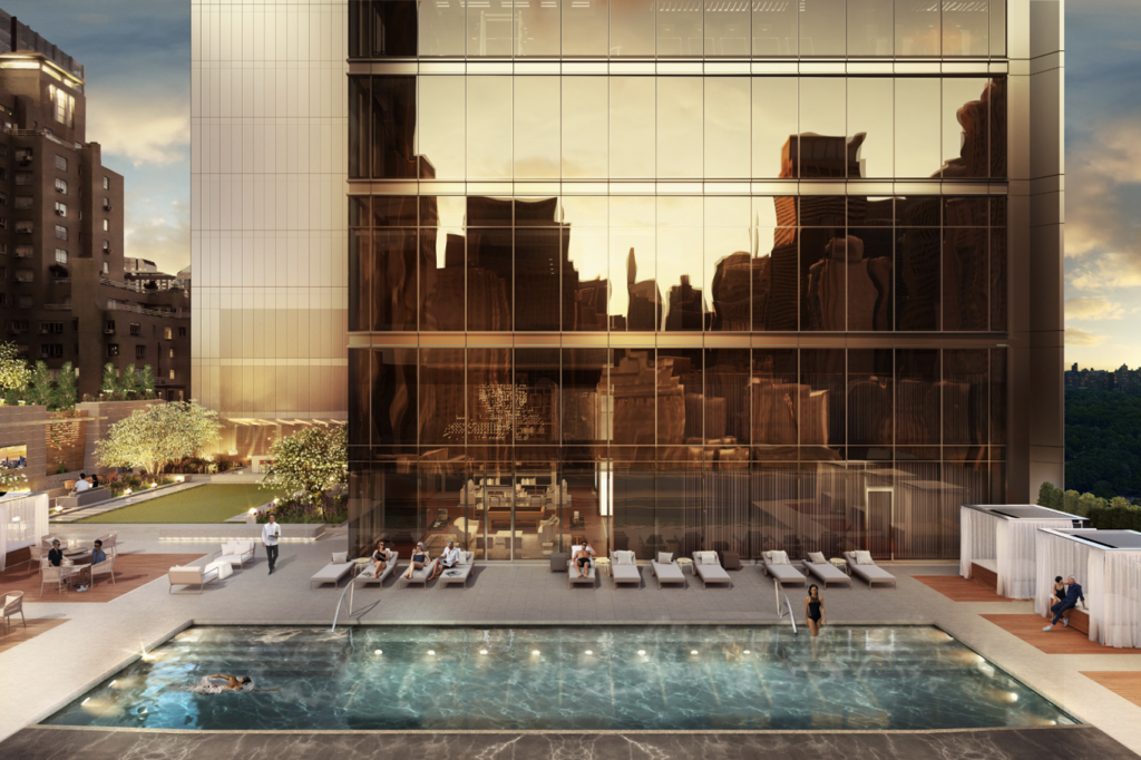 Central Park Tower 14th Floor Pool Deck with Cabanas