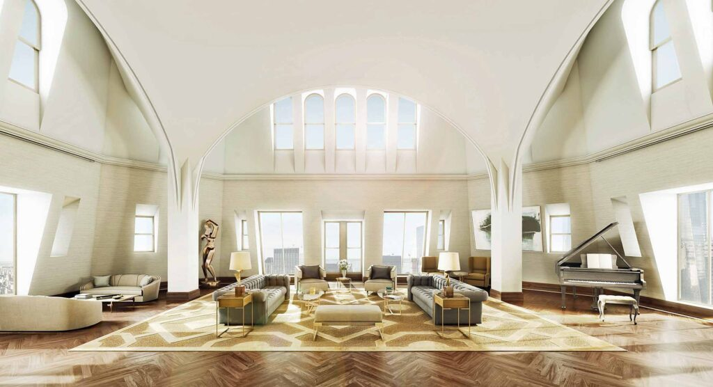 Woolworth Penthouse, Great Room Design By Thierry W. Despont