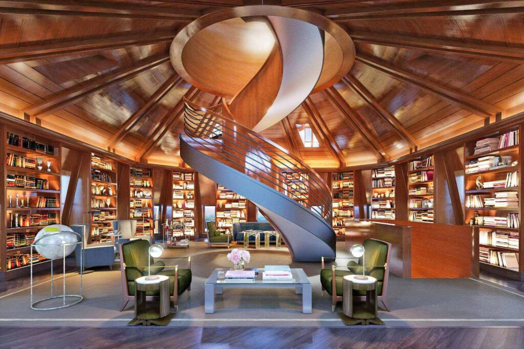 Woolworth Penthouse, Library Designed Thierry W. Despont