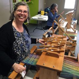 Ruby Leslie workshop - Gaynor Brown & 2-block weave