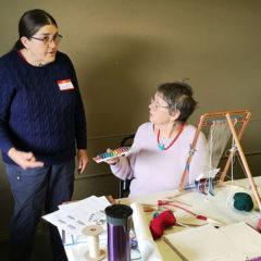 Tapestry workshop - Elaine with Kathe