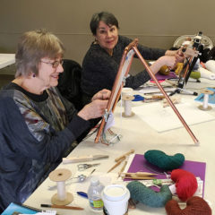 Tapestry workshop - Kathy and Trudy