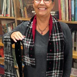 Marsha Godfrey's 2 doubleweave stoles