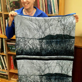 Sheila's jacquard-woven tapestries