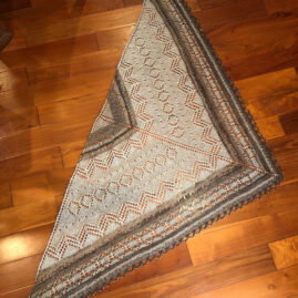 Sophia Brantley's shawl with handspun