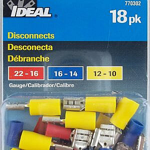 Ideal 18-Pack of Disconnects Wire Connectors – 770302