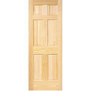 6 panel interior pine door slab