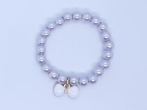 smoky grey charm bracelet