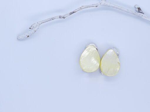 Yellow Clip On Earrings