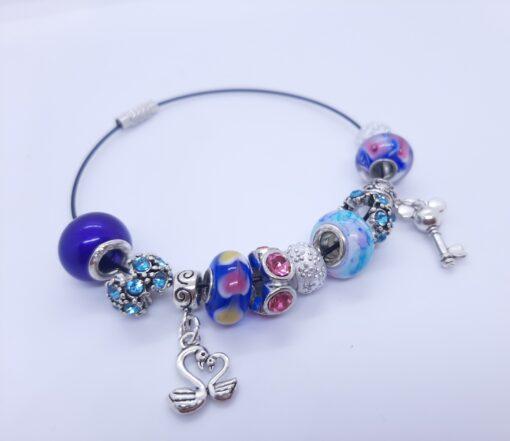 Steel Charm Bracelet