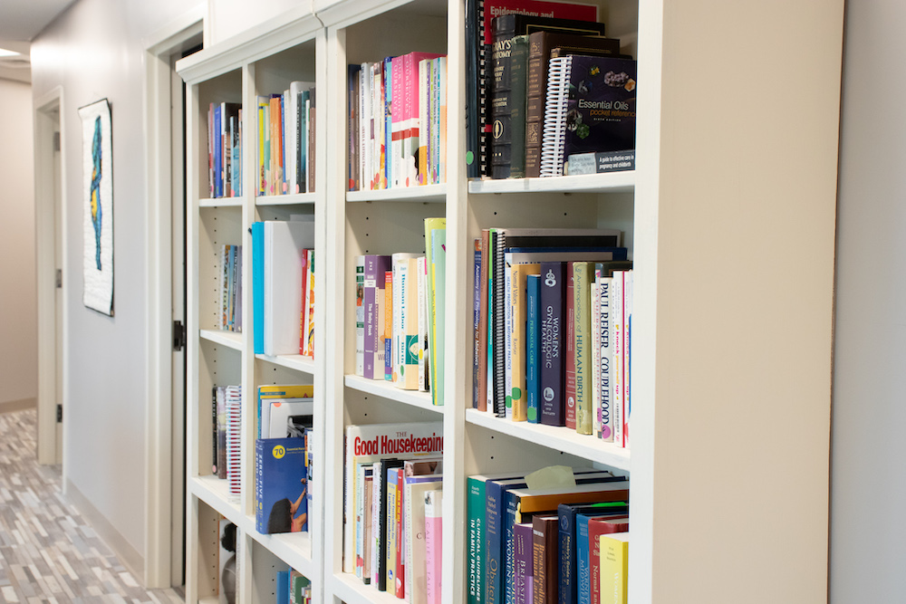 Charleston Birth Place bookshelf