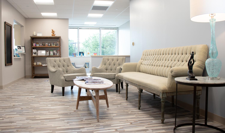 Charleston Birth Place waiting room