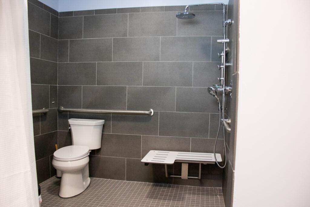 bathroom in birth center