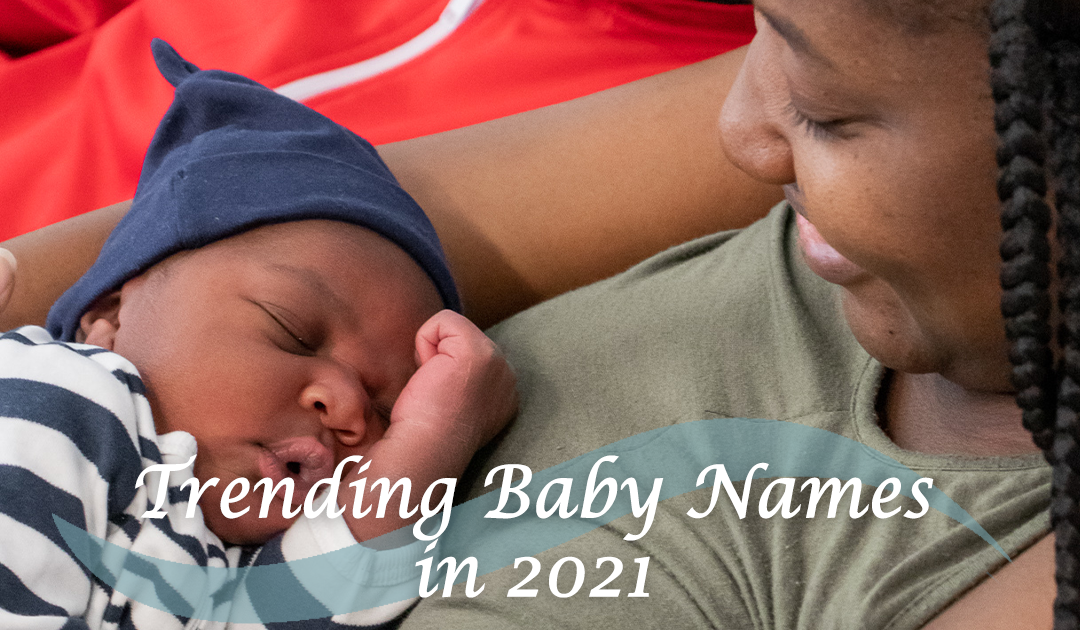 CBP blog graphic trending baby names 2021