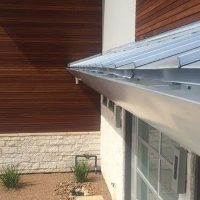 rain gutters for a metal roof