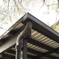 metal patio gutters