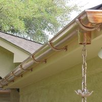 high end rounded copper gutters