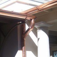 copper gutters installed