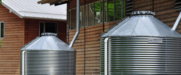 Commercial rainwater collection
