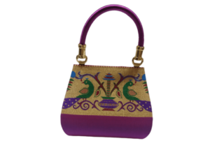 Semi paithani medium handbag