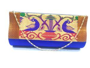 Semi Paithani medium clutch