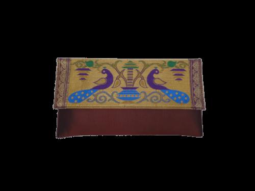 Paithani big flat purse