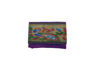 Small semi paithani pouch