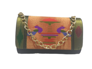 Pure Paithani Round box clutch